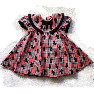 Toddler Party Portrait Scottie Dress Girls 24 M